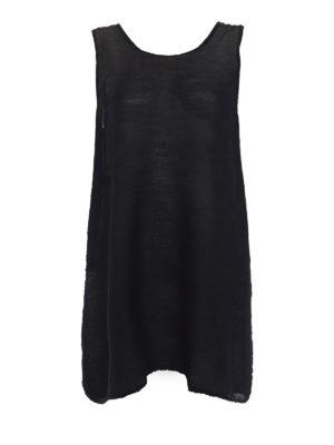 Issey Miyake Cauliflower: short dresses - See-through black crepe dress