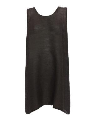 Issey Miyake Cauliflower: short dresses - See-through crepe A-line dress