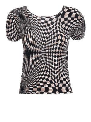Issey Miyake Cauliflower: t-shirts - Geometric print T-shirt
