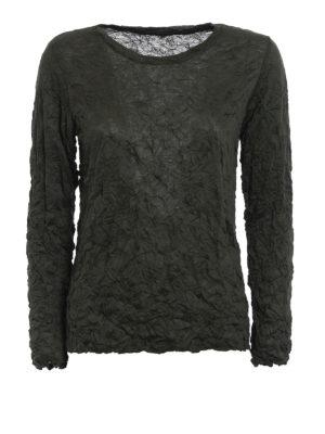 Issey Miyake Cauliflower: t-shirts - Meringue long sleeve T-shirt