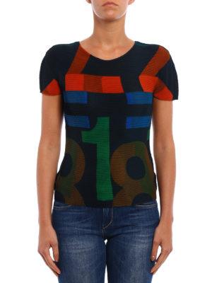 Issey Miyake Cauliflower: t-shirts online - Number print T-shirt