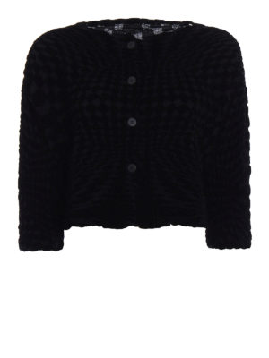 Issey Miyake Cauliflower: Tailored & Dinner - Geometric Flocky crop jacket