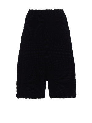 Issey Miyake Cauliflower: Tailored & Formal trousers - Geometric Flocky short pants