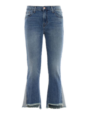 J Brand: bootcut jeans - Aubrie high-rise cropped jeans