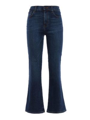 J Brand: bootcut jeans - Carolina crop bootcut jeans