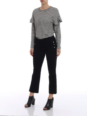 J Brand: bootcut jeans online - Buttons detailed Zion jeans