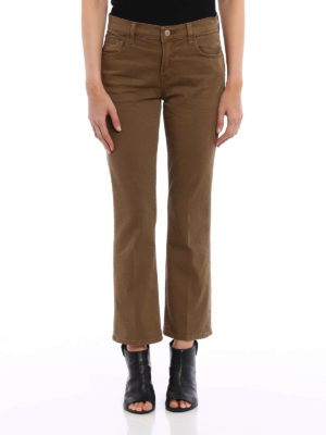 J Brand: bootcut jeans online - Selena mid rise crop jeans