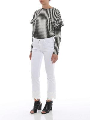 J Brand: bootcut jeans online - Selena white crop bootcut jeans