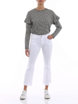 J Brand: bootcut jeans online - Selena white cropped bootcut jeans
