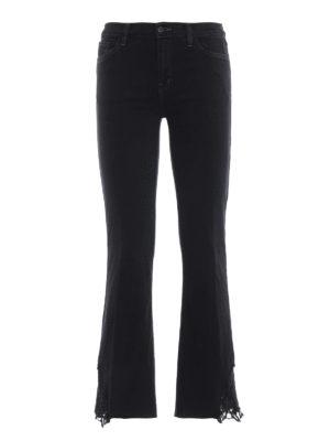 J BRAND: jeans bootcut - Jeans Selena con vita media e gamba crop