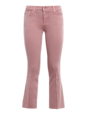 J Brand: bootcut jeans - Selena pink cropped jeans