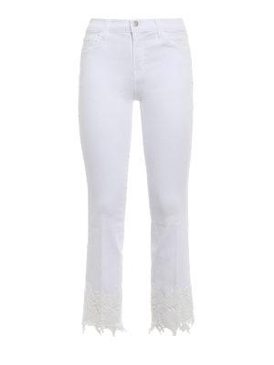 J Brand: bootcut jeans - Selena white crop bootcut jeans