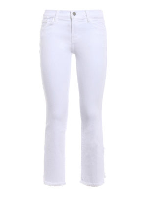 J Brand: bootcut jeans - Selena white cropped bootcut jeans