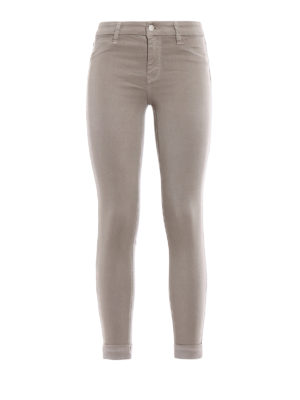 J Brand: casual trousers - Anja sateen crop trousers