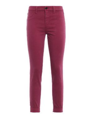 J BRAND: pantaloni casual - Pantaloni Anja in rasatello stretch