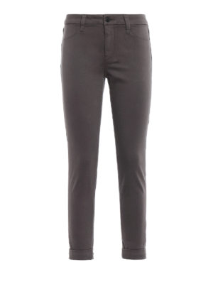 J BRAND: pantaloni casual - Pantaloni Anja in rasatello stretch zinco