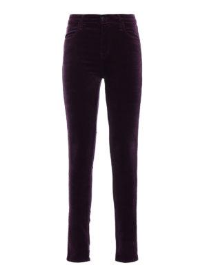 J Brand: casual trousers - Maria velvet skinny trousers
