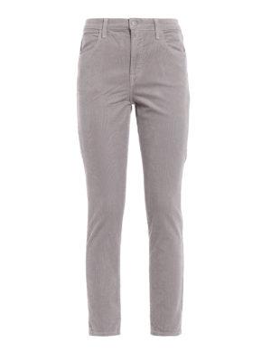 J BRAND: pantaloni casual - Cinque tasche Mars in velluto millerighe