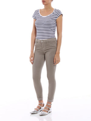 J Brand: casual trousers online - Anja sateen crop trousers