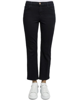 J Brand: casual trousers online - Cotton blend crop trousers