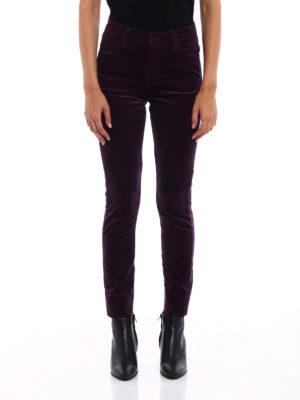 J Brand: casual trousers online - Maria velvet skinny trousers