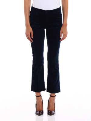 J Brand: casual trousers online - Selena velvet bootcut trousers