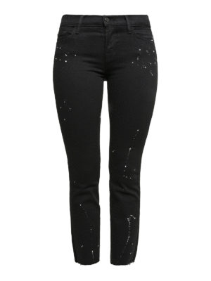 J Brand: casual trousers - Paint splattered crop trousers
