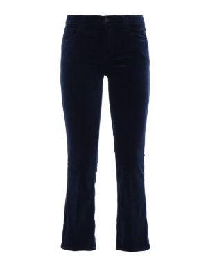 J Brand: casual trousers - Selena velvet bootcut trousers