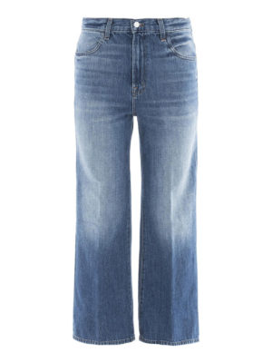 J Brand: flared jeans - High-rise flared jeans