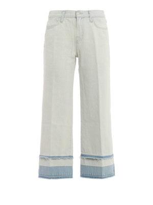 J Brand: flared jeans - Liza denim culottes