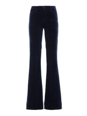 J Brand: flared jeans - Maria Flare blue velvet jeans