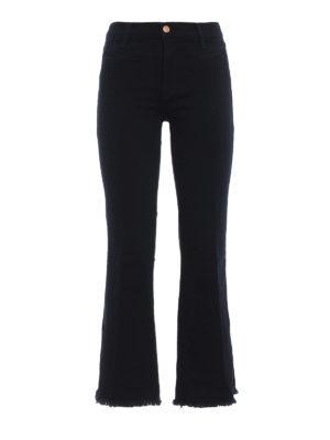 J BRAND: jeans a zampa - Jeans Photo Finish corti con fondo sfrangiato