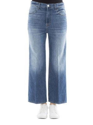 J Brand: flared jeans online - High-rise flared jeans