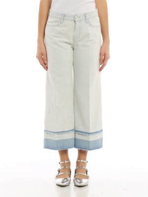 J Brand: flared jeans online - Liza denim culottes