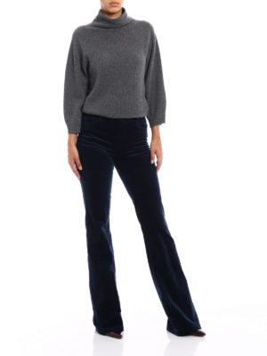 J Brand: flared jeans online - Maria Flare blue velvet jeans