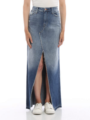 J Brand: Long skirts online - Trystan denim maxi skirt