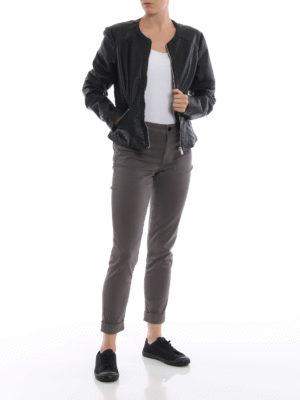 J BRAND: pantaloni casual online - Pantaloni Anja in rasatello stretch zinco