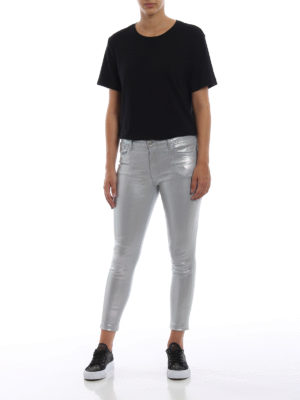 J BRAND: jeans skinny online - Jeans Photo Finish cangianti corti