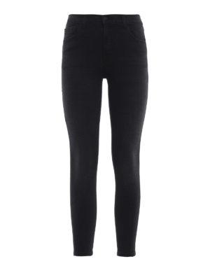 J BRAND: jeans skinny - Jeans crop neri 835 a vita media