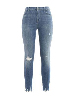 J Brand: skinny jeans - Alana high-rise and crop jeans