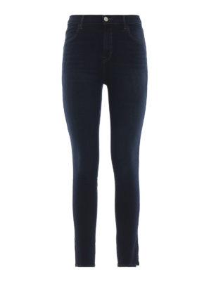 J BRAND: jeans skinny - Jeans crop Albana schini a vita alta
