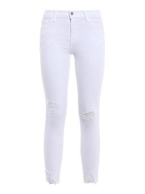 J Brand: skinny jeans - Capri mid-rise skinny jeans
