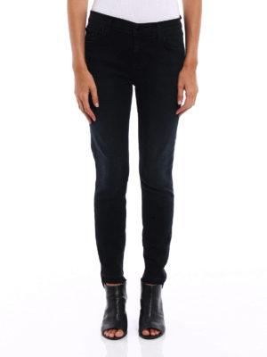 J Brand: skinny jeans online - Capri destruct denim jeans