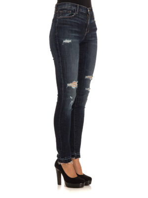 J Brand: skinny jeans online - Ripped skinny jeans