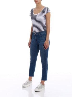 J Brand: skinny jeans online - Ruby cigarette crop jeans