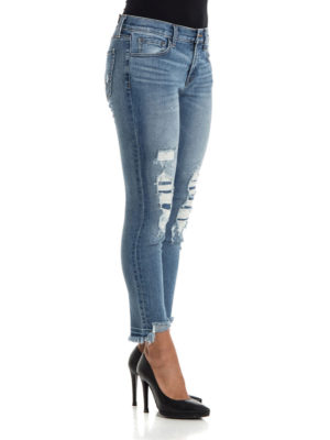 J Brand: skinny jeans online - Sadey jeans with patched rips