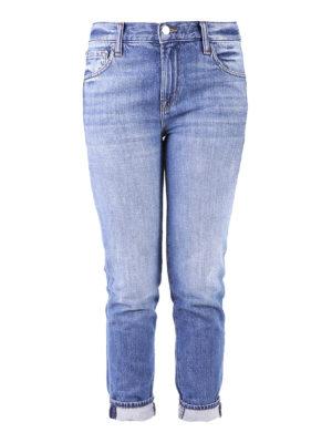 J Brand: straight leg jeans - Johnny medium wash denim jeans