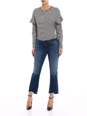 J Brand: straight leg jeans online - Selena mid-rise crop jeans