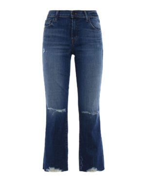 J Brand: straight leg jeans - Selena mid-rise crop jeans