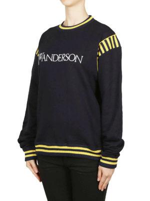 J.W. ANDERSON: Felpe e maglie online - Felpa girocollo in cotone blu e gialla